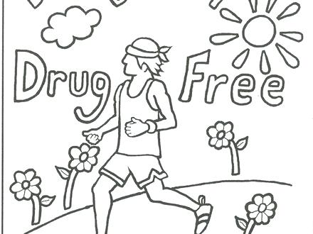 440x330 Anti Drugs Coloring Pages Page
