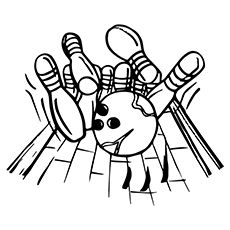230x230 Amazing Bowling Coloring Pages For Your Toddler