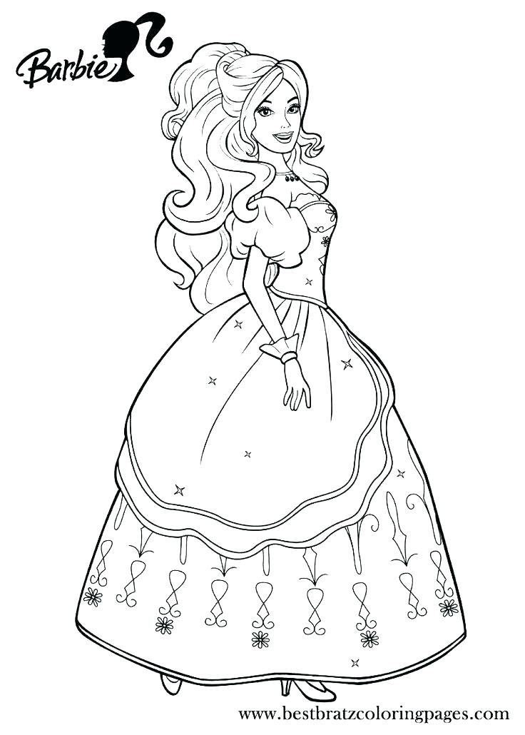 736x1030 Barbie Coloring Pages Print Barbie Coloring Books And Barbie