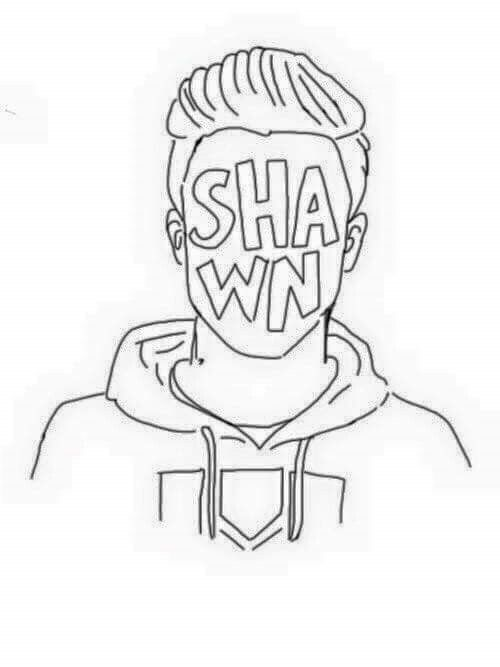 500x667 Shawn Mendes Coloring Pages Pin Lua Mc On S H A W N M E N D E S