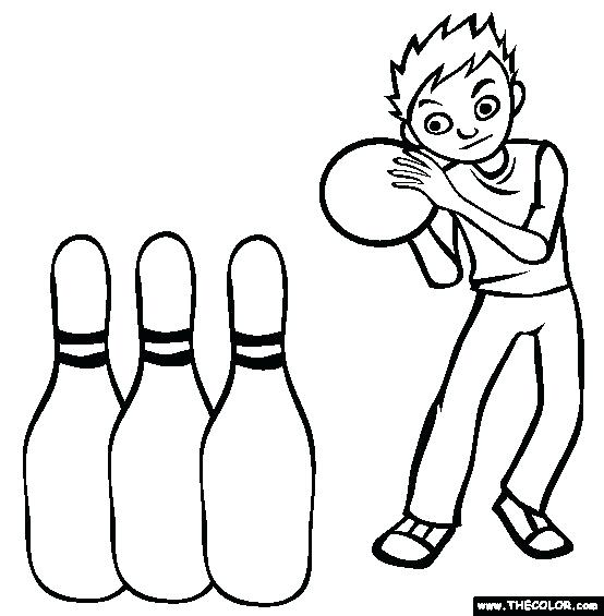 554x565 Birthday Party Bowling Coloring Page Free Bowling Online Coloring
