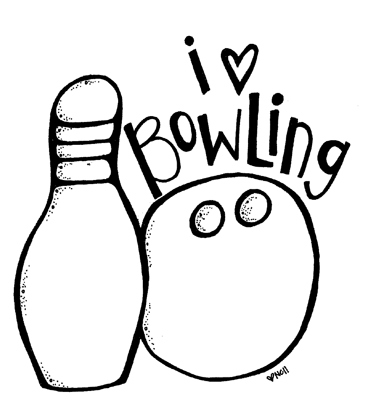 1193x1305 Bowling Coloring Pages