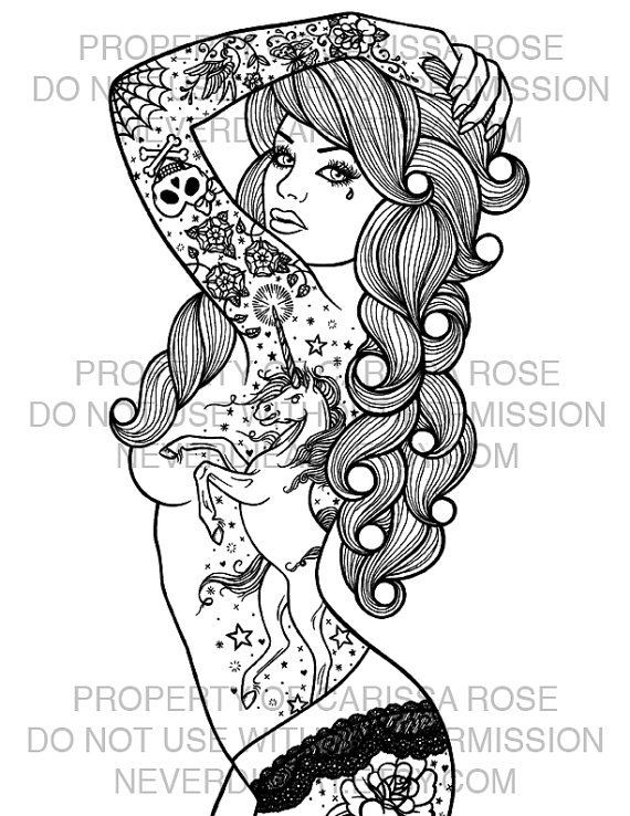 Pin Up Coloring Pages At GetDrawings Free Download