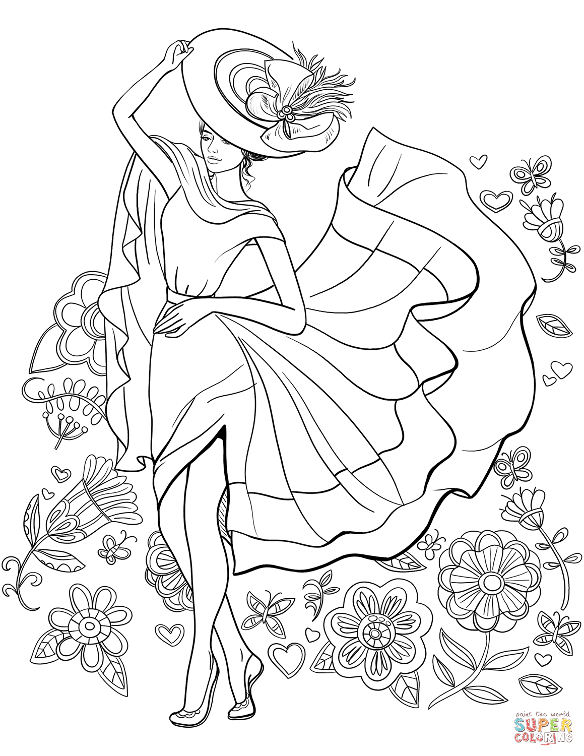 1159x1500 Pin Up Girl Coloring Pages