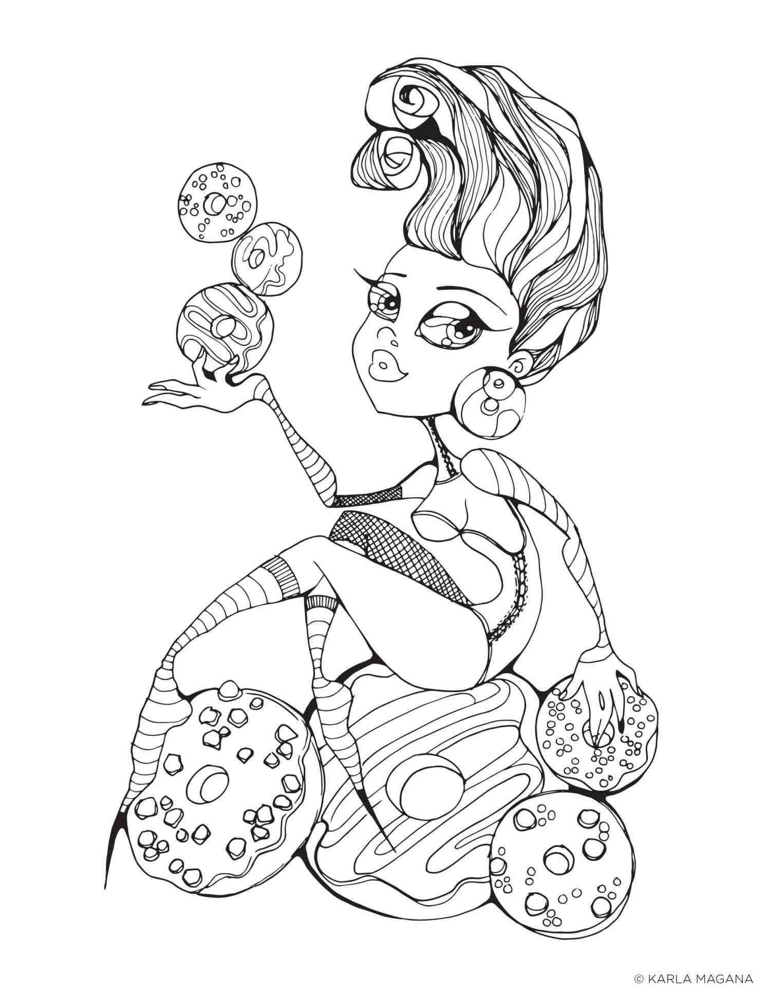 1491x1929 Printable Pin Up Girl Coloring Pages Web Fine