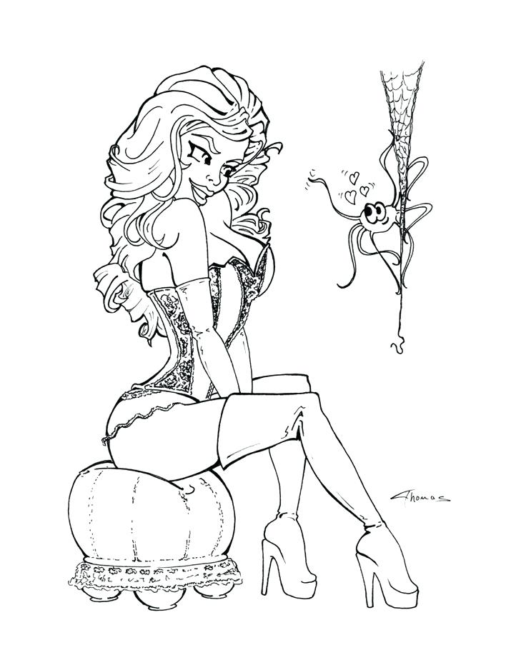 736x938 Classy Design Pin Up Girl Coloring Book Also Girls Pages Me