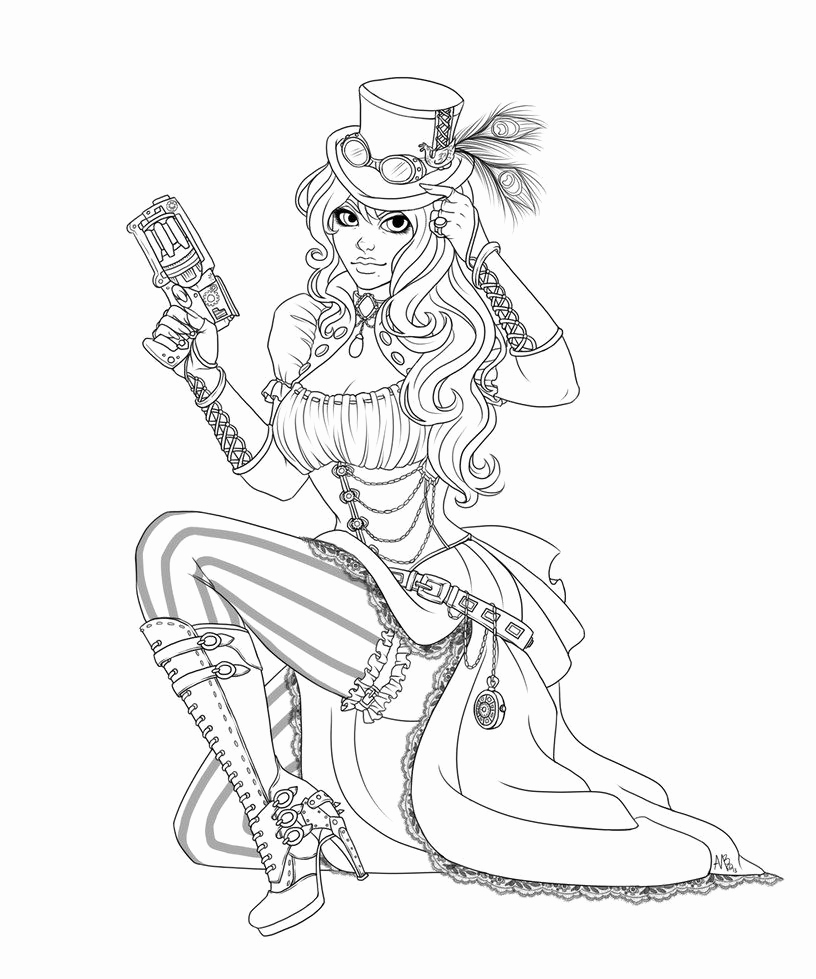 816x979 Fairy Coloring Pictures Lovely Pin Up Girl Coloring Page Google