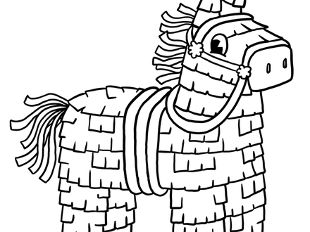 440x330 Pinata Coloring Page Printable Cinco De Mayo Pages Intended