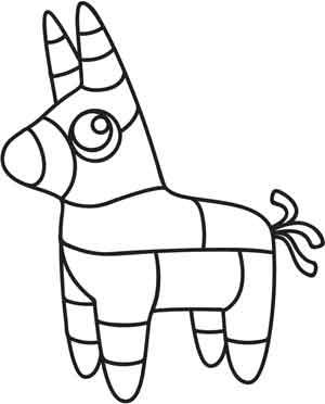 300x372 Donkey Pinata Drawing