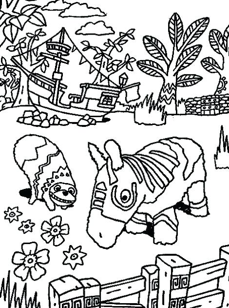 470x631 Intricate Viva Pinata Coloring Line Art Page Viva Pinata Video