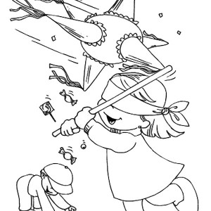 300x300 Pinata Coloring Page Free Download