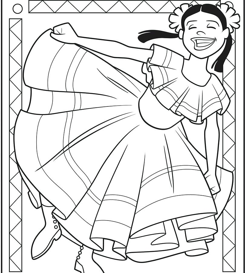 810x900 Pinata Coloring Page Mayo Celebration Coloring Page Free Printable