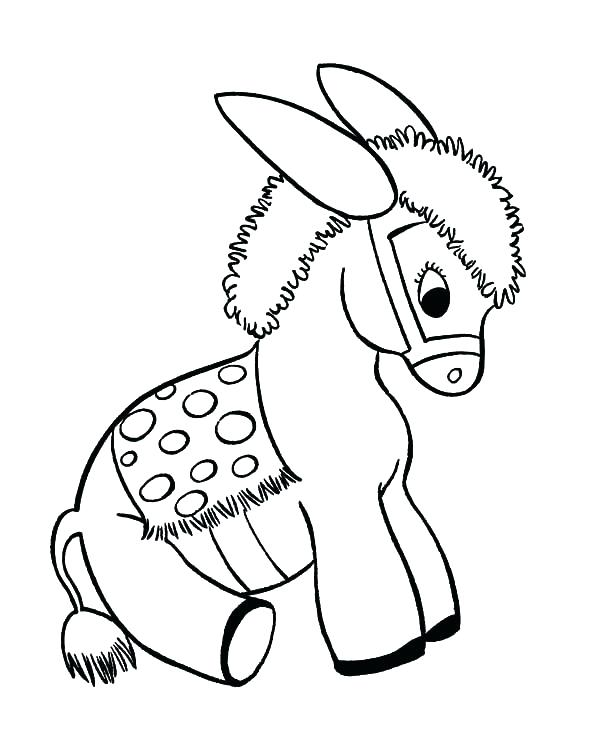 600x734 Pinata Coloring Page Pinata Coloring Pages For Kids Donkey Free