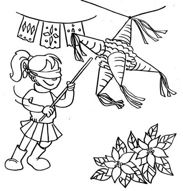 600x626 Pinata Coloring Page Amazing Pinata Coloring Page For Coloring