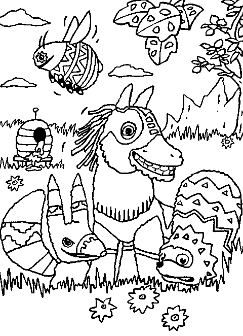 480x662 Cartoon Images For Colouring Pages Viva Pinata Coloring Page