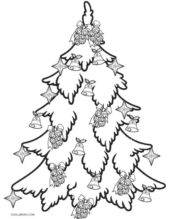 541x700 Printable Christmas Tree Coloring Pages For Kids