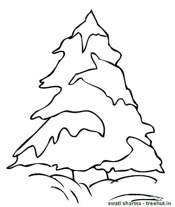 359x424 Trees Coloring Pages Pine Tree With Snow Coloring Page Autumn