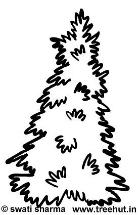 277x425 Trees Coloring Pages