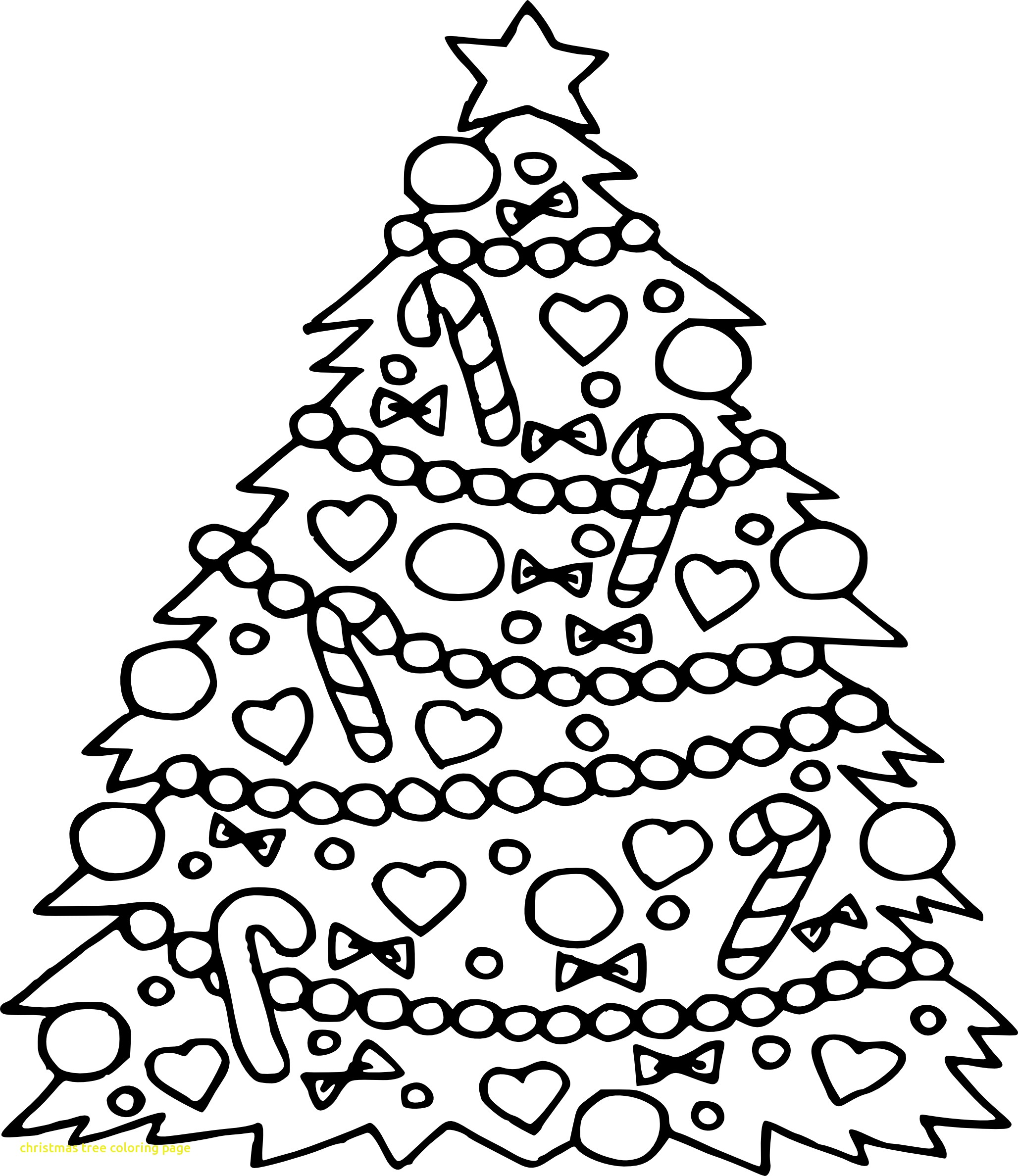 2056x2376 Christmas Tree Coloring Pages