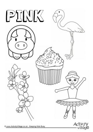 Pink Coloring Pages