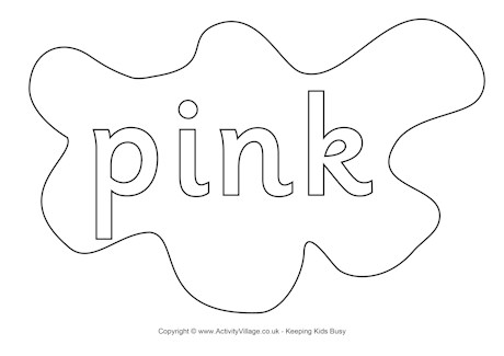 460x325 Pink Colouring Page