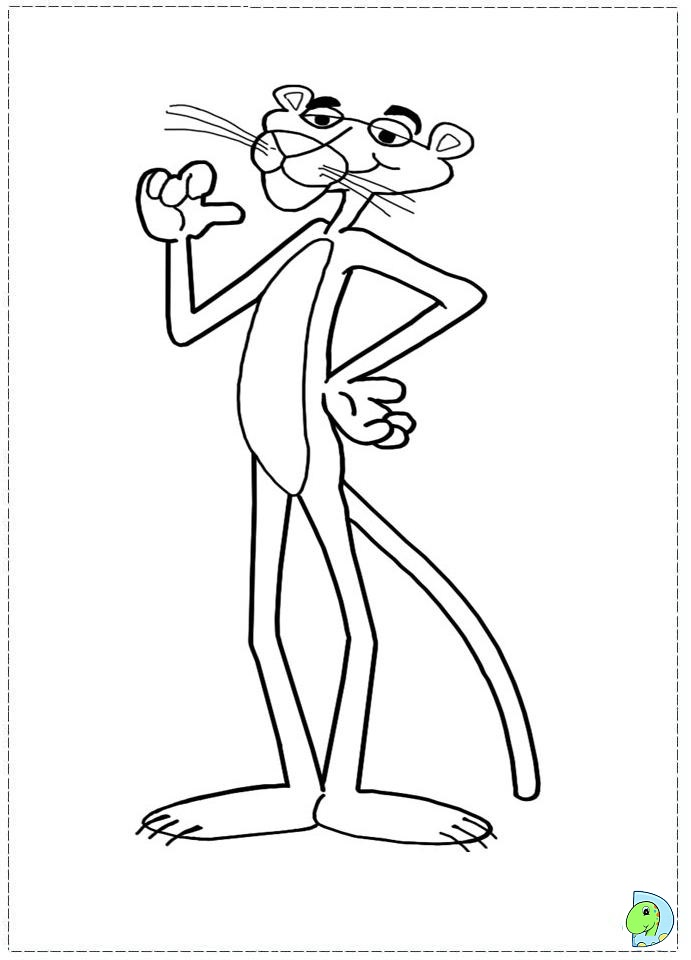 691x960 Pink Panther Coloring Pages