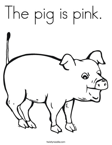 468x605 The Pig Is Pink Coloring Page