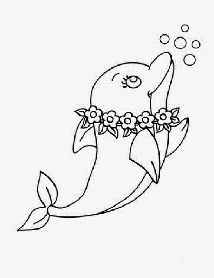 Pink Dolphin Coloring Pages