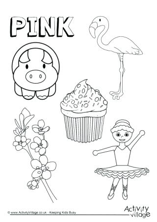 320x452 Pink Coloring Pages Pink Things Colouring Page Pink Flamingo