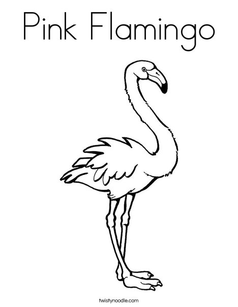 468x605 Pink Flamingo Coloring Page