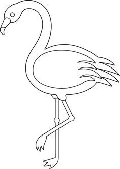 236x333 Colorable Flamingo