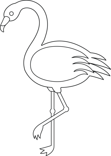 389x550 Colorable Flamingo