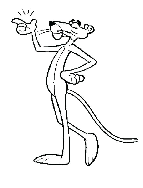 600x788 Pink Panther Coloring Page For Kids The Color Pink Coloring Pages