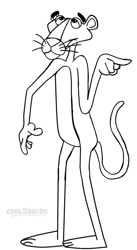 468x850 Printable Pink Panther Coloring Pages For Kids