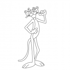 230x230 Top Pink Panther Coloring Pages For Your Toddler