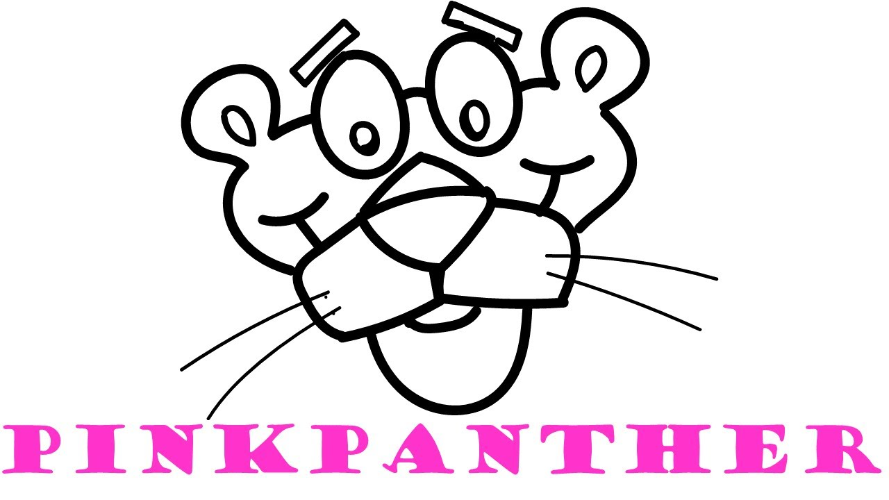 1280x720 How To Draw And Color Pink Panther Coloring Pages For Kids
