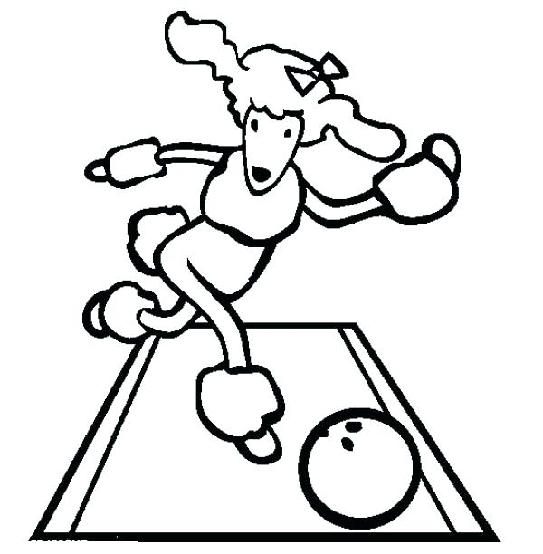 600x612 As Well As This Cute Poodle Play Bowling Coloring Page Free