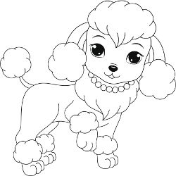 250x250 Free Printable Dogs And Puppies Coloring Pages For Kids Poodle