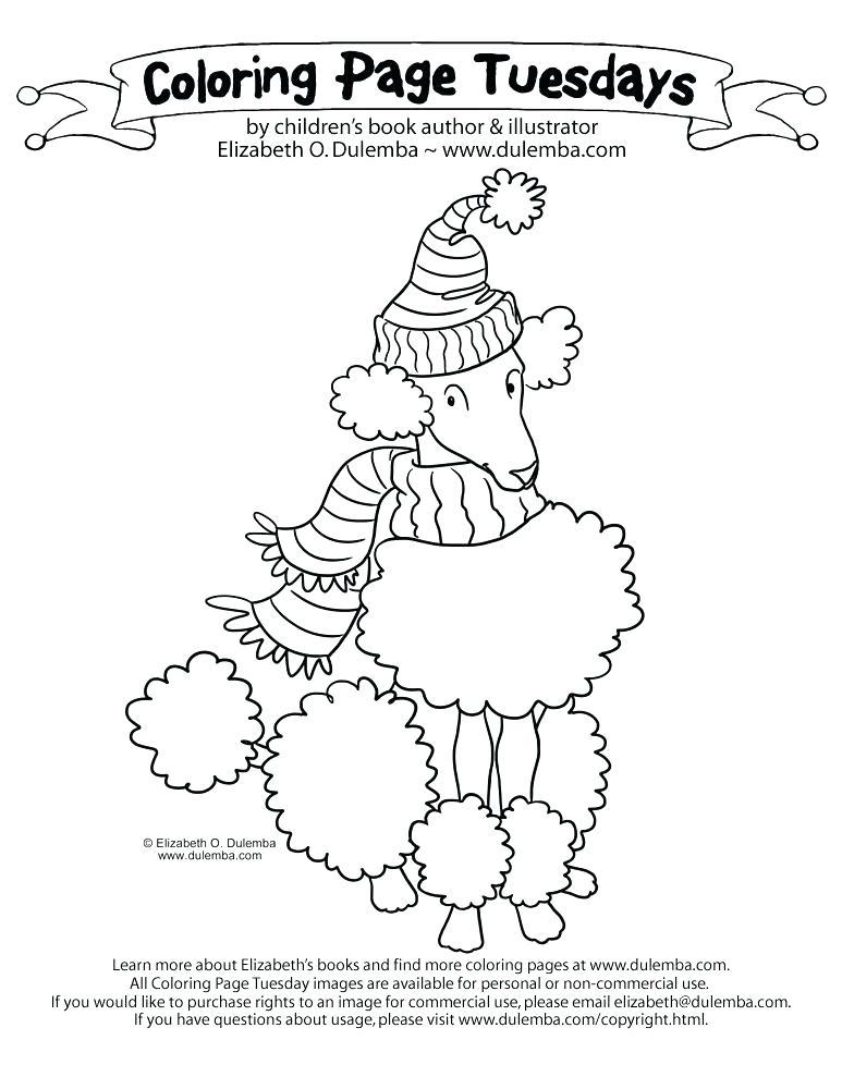 773x1000 Pink Poodle In Paris Coloring Pages Puppy Poodle Coloring Page
