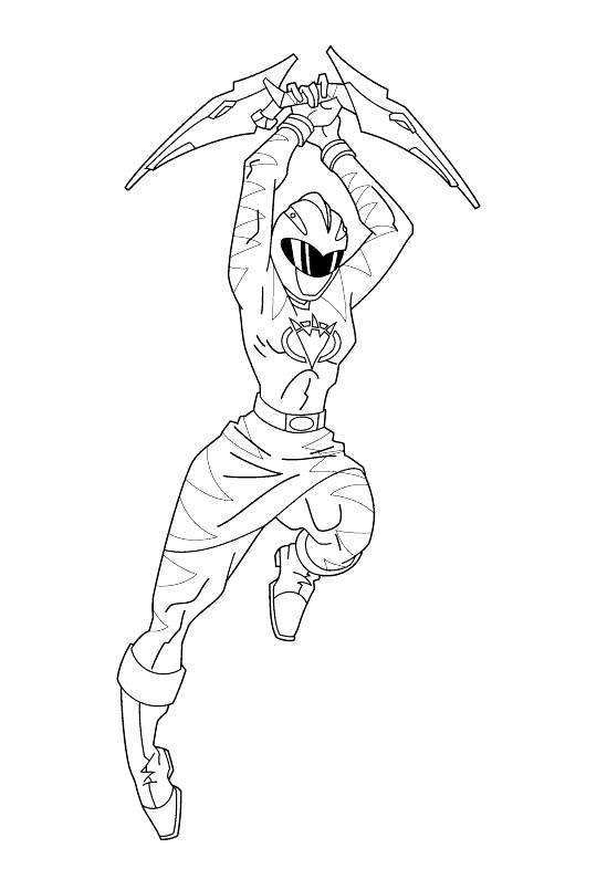 549x805 Pink Dino Thunder Ranger Coloring Pages