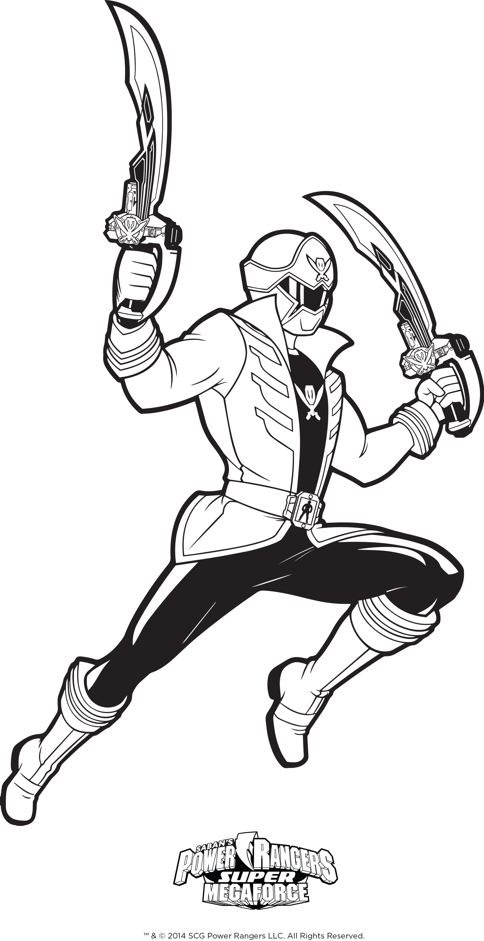 1554x3017 Power Rangers Megaforce Coloring Pages
