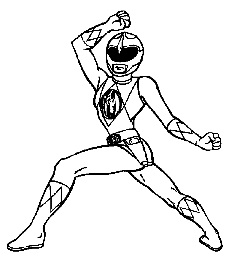763x886 Mighty Morphin Power Rangers Coloring Pages