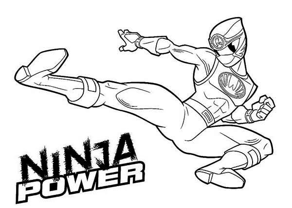 600x428 Ninja Power Rangers Coloring Page Color Luna
