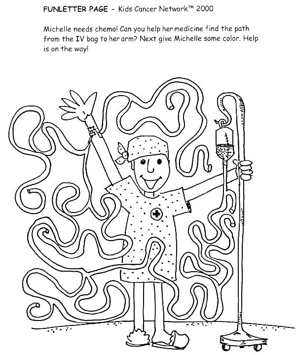 600x720 Cancer Ribbon Coloring Page Breast Cancer Awareness Coloring Pages