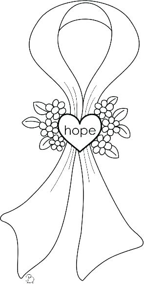 295x582 Cancer Ribbon Coloring Page Breast Cancer Pink Ribbon Coloring