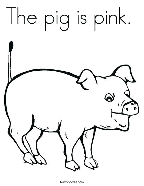 468x605 Pink Coloring Page Pig Coloring Pictures Pink Pig Coloring Page
