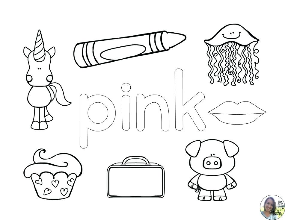 951x735 Pink Coloring Pages
