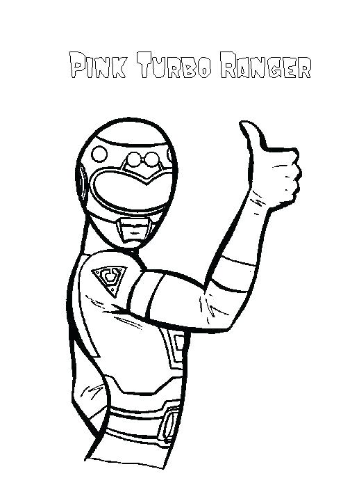 517x720 Pink Coloring Pages Pink Coloring Page Turbo Pink Power Rangers