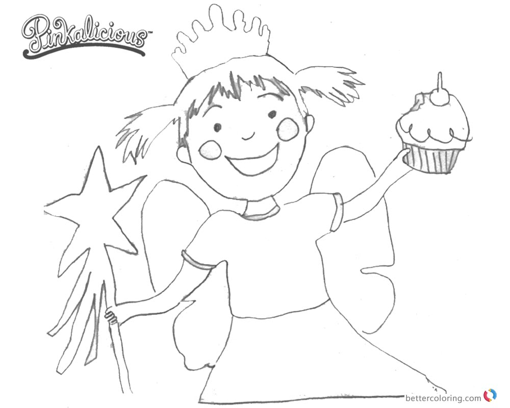 1000x800 Pinkalicious Coloring Pages Fanart Clipart