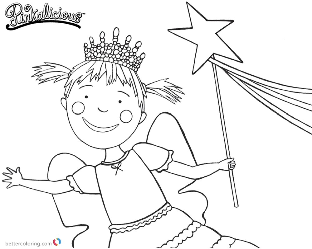1000x800 Pinkalicious Coloring Pages Lineart